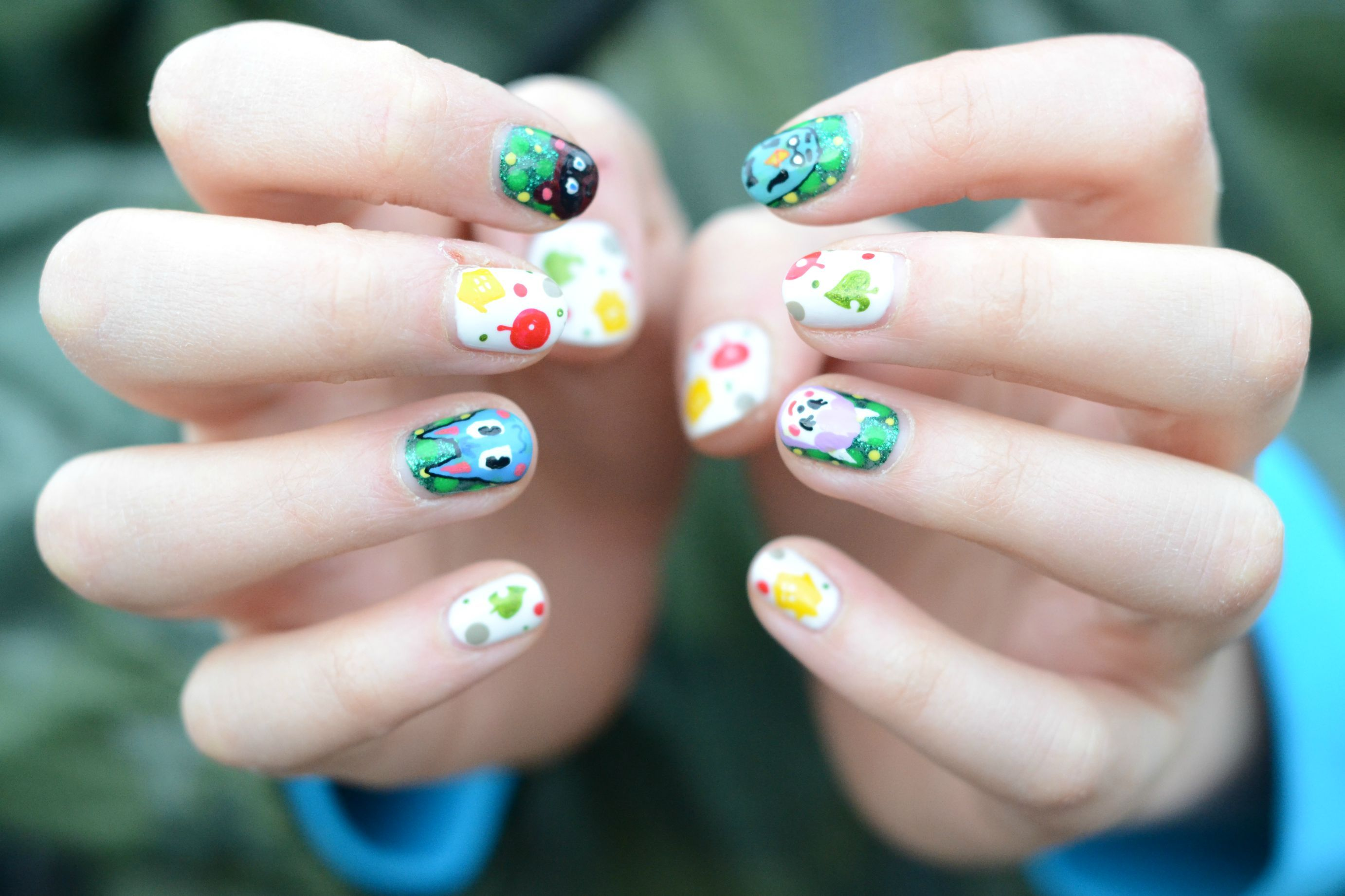 Animal Crossing nail art ♥ | Video Games and such | Pinterest | Makeup