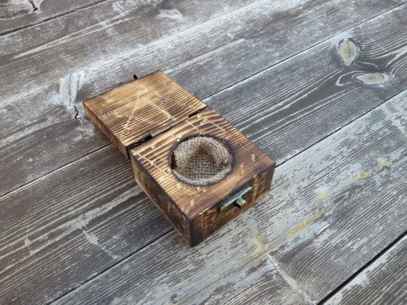 reclaimed wood ring box wood ring box wedding by rustichandcrafts
