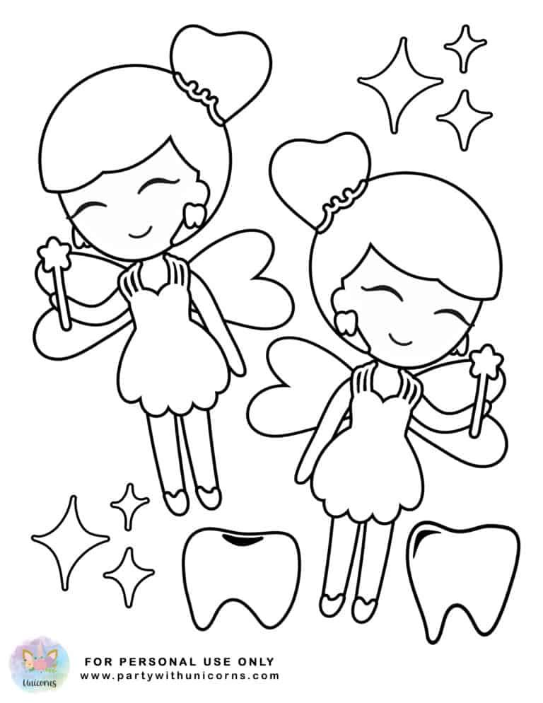 Tooth Fairy Coloring Pages Free Download in 2020 Fairy