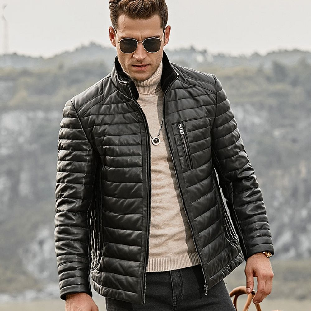 Genuine Lambskin Winter Warm Leather Jacket Leather