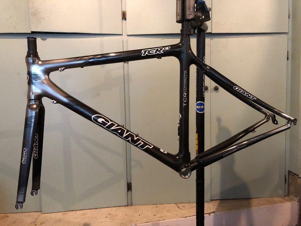 Giant Tcr C1 Carbon Fiber Compact Road Bike Frame Set 54cm Road Bike Frames Bike Frame Giant Tcr