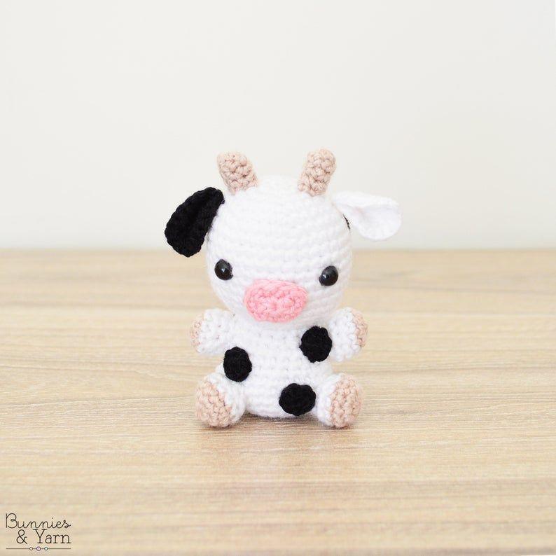 CROCHET PATTERN in English - Cow - Baby #16 - Babi