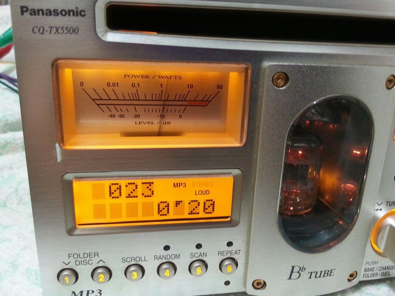900a5994a01 Rare PANASONIC CQ-TX5500D made in Japan car radio vacuum tube mp3 ...