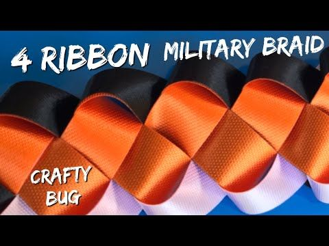 4 RIBBON MILITARY BRAID; homecoming mum braids and chains; DIY HOMECOMING MUMS; how to make mums