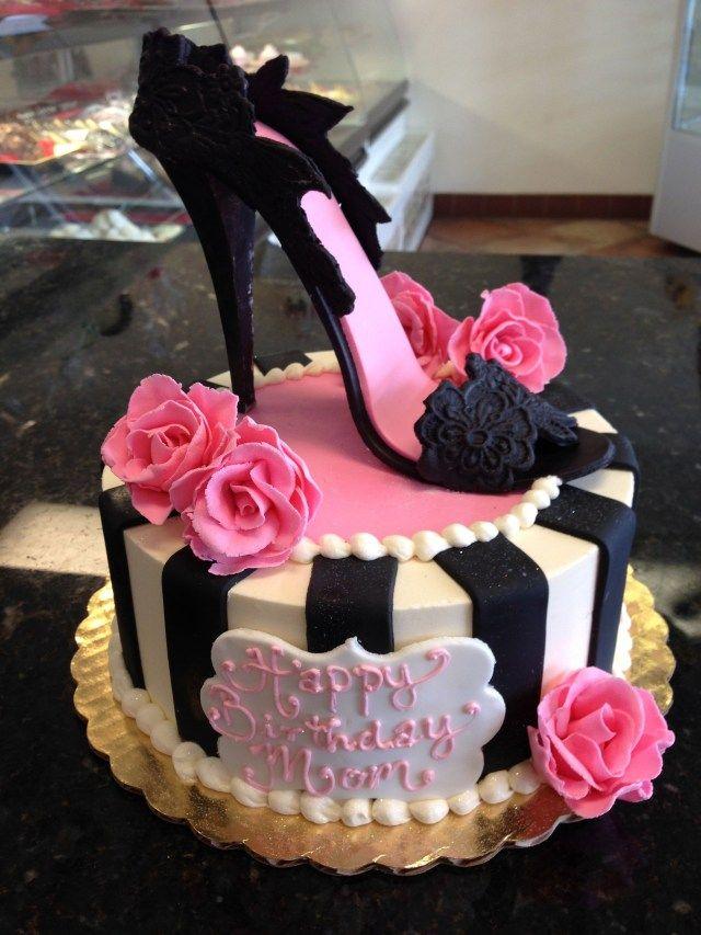 Super 21 Awesome Image Of High Heel Birthday Cake Birthday Cakes For Birthday Cards Printable Inklcafe Filternl