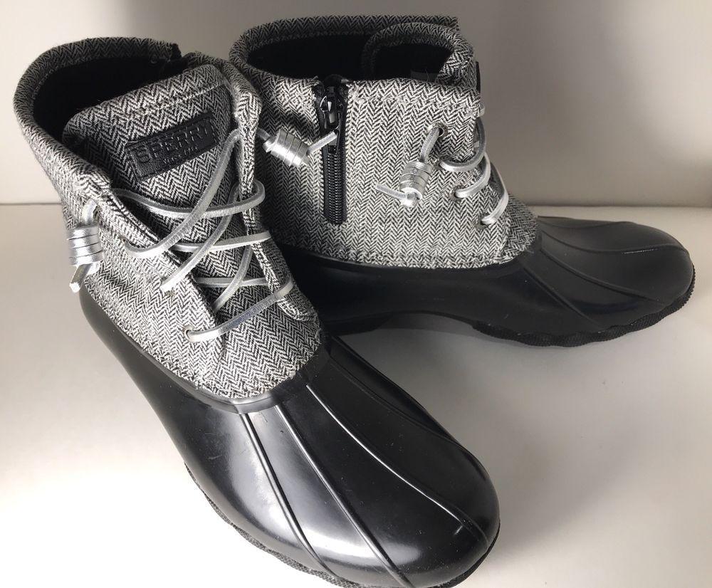 SPERRY Saltwater Duck Boots Girls Size