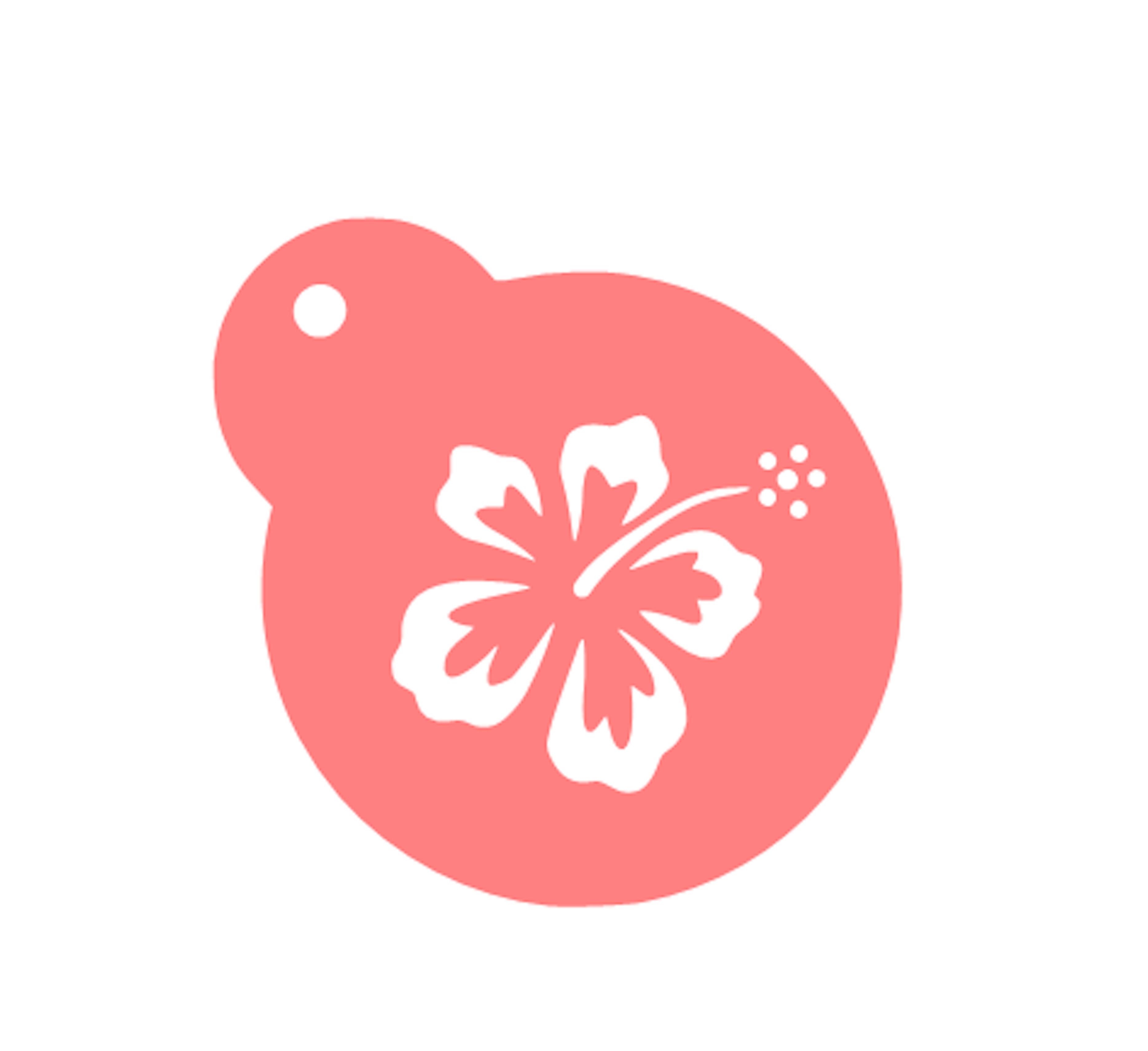 Hawaiian flower stencil bakeart stencils pinterest hawaiian our hawaiian cookie stencil is perfect for all of your luau tropical and moana themed treats designed for 3 space and available in two template sizes izmirmasajfo