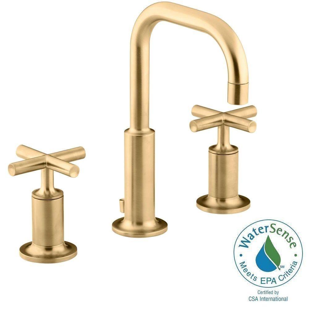 Salle De Bain Frise Douche ~ kohler purist 8 in widespread 2 handle mid arc bathroom faucet in