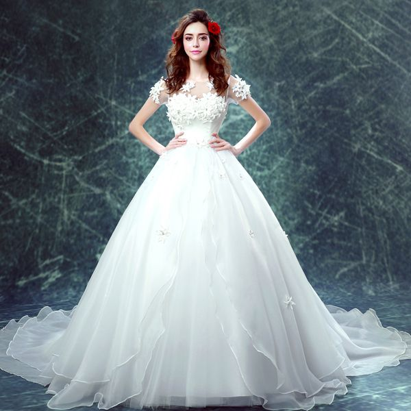 Sears Com Organza Wedding Gowns Bridal Ball Gown Lace Applique Wedding Dress