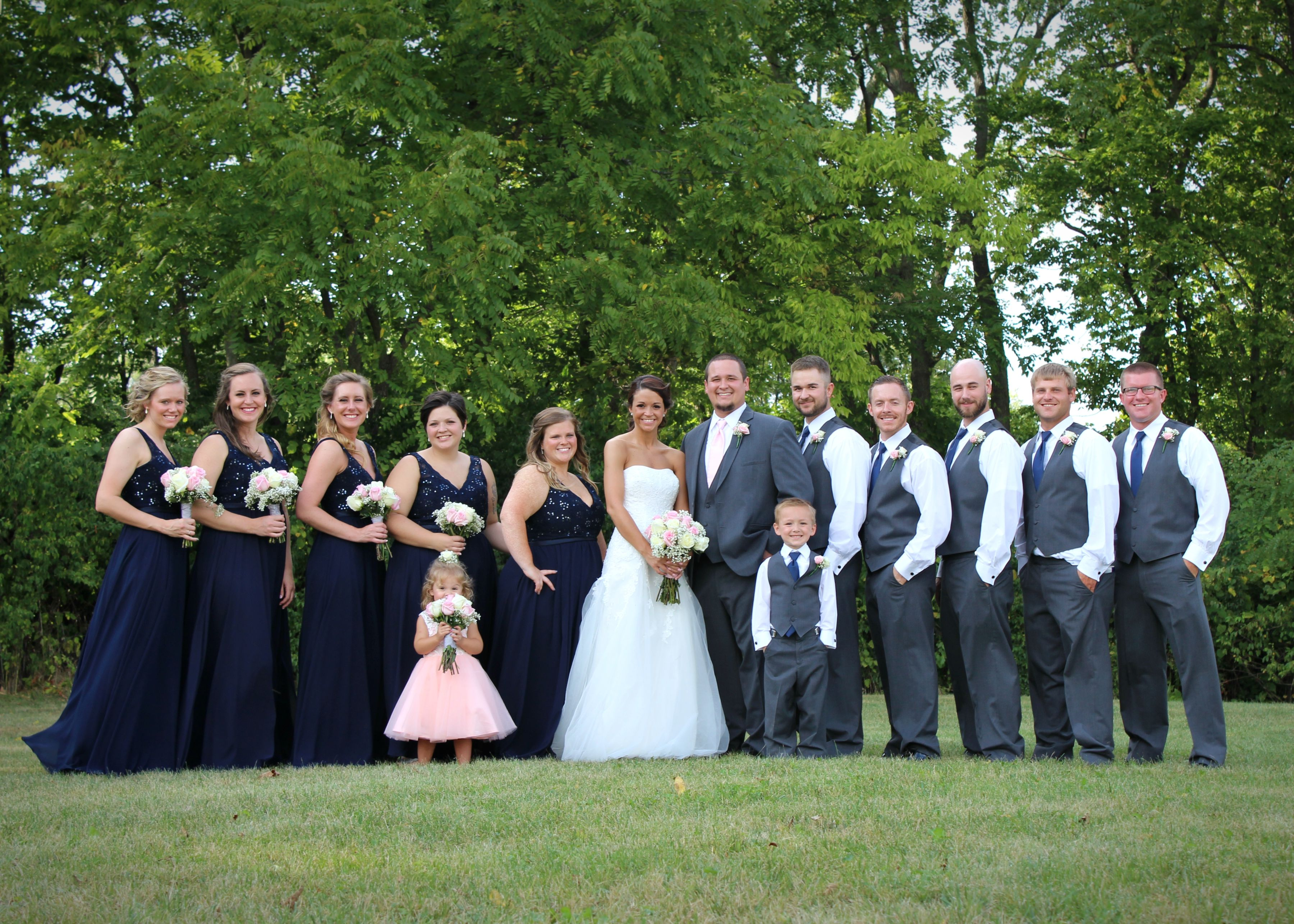 fall bridal party pictures%0A wedding photography outdoor ceremony summer fall wedding bride groom wedding  party bridesmaids groomsmen