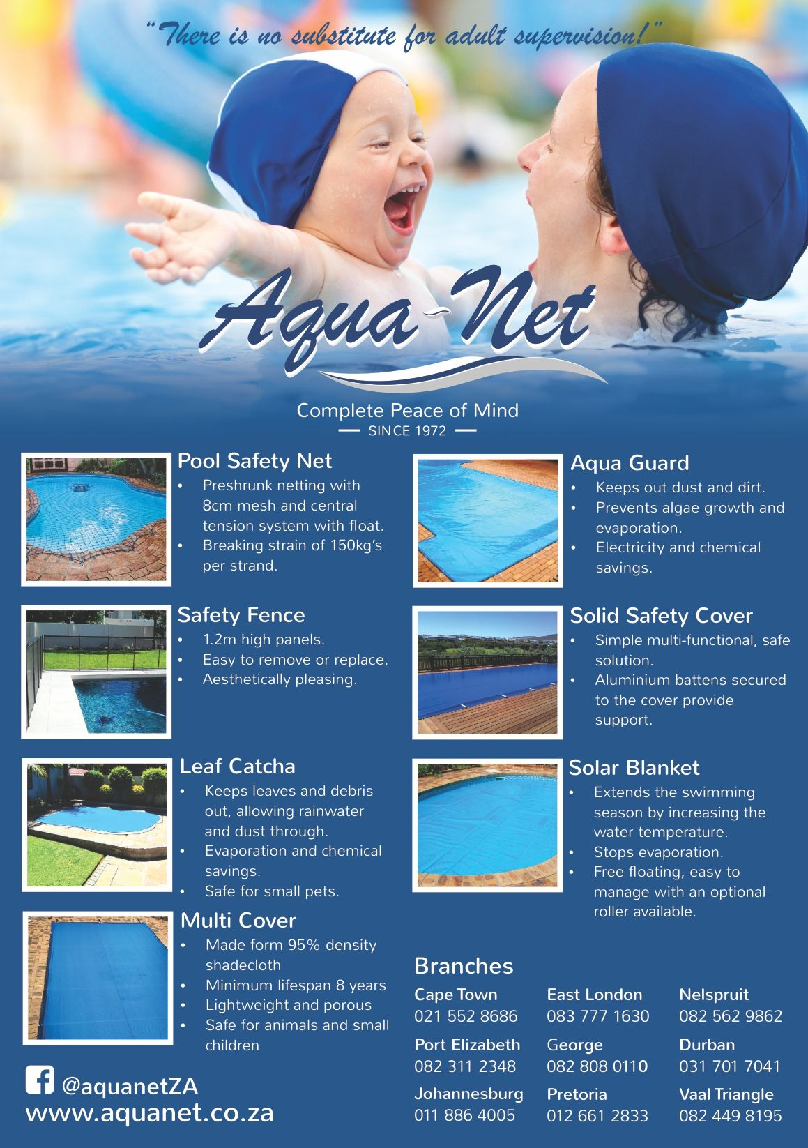 Cape Town A5 Flyer Pool safety net, Pool safety