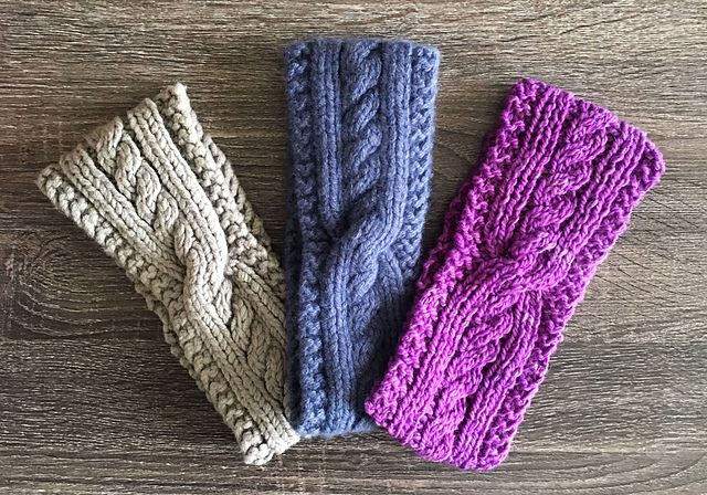 Ravelry: Cables with a Twist Earwarmers pattern by Tina ...