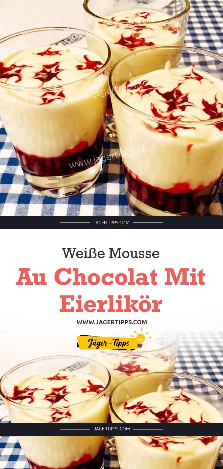 Weiße Mousse au Chocolat mit Eierlikör #allwhiteparty