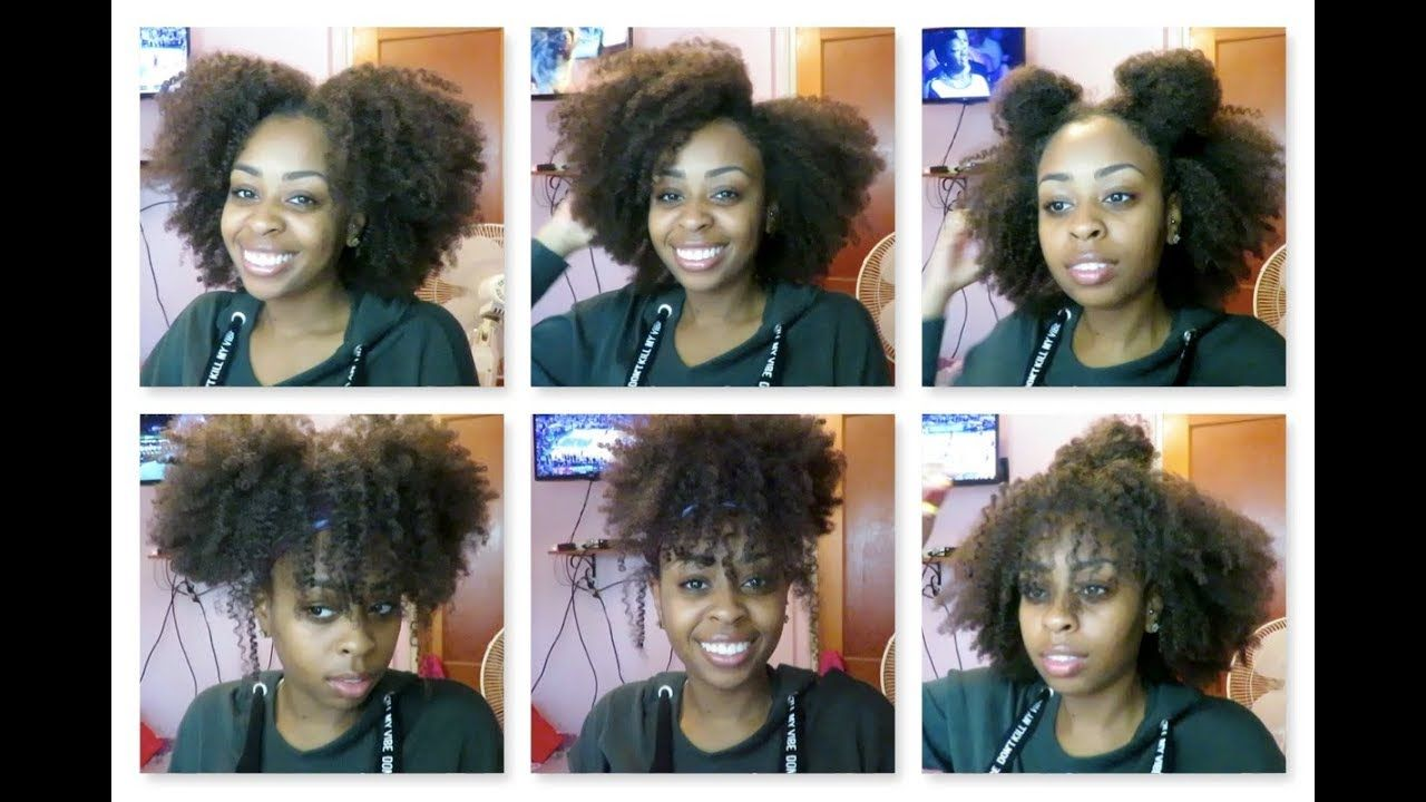12 quick & easy hairstyles on old twist-out | natural hair