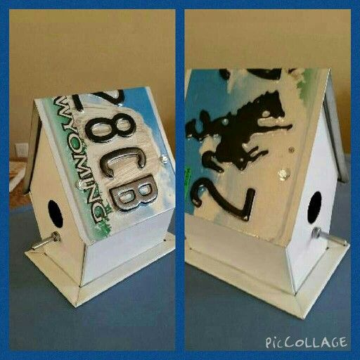 Birdhouse I made for my sister's birthday.