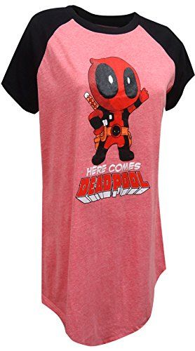 Marvel Comics Here Comes Deadpool Plus Size Night Shirt for women 1X2X    Click on the image for additional details.Note It is affiliate link to  Amazon. 9eff3226d