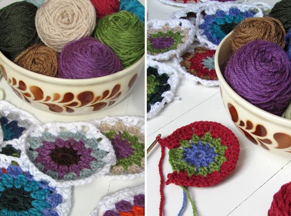Needlework missy: GRANNY SQUARE circle tutorial