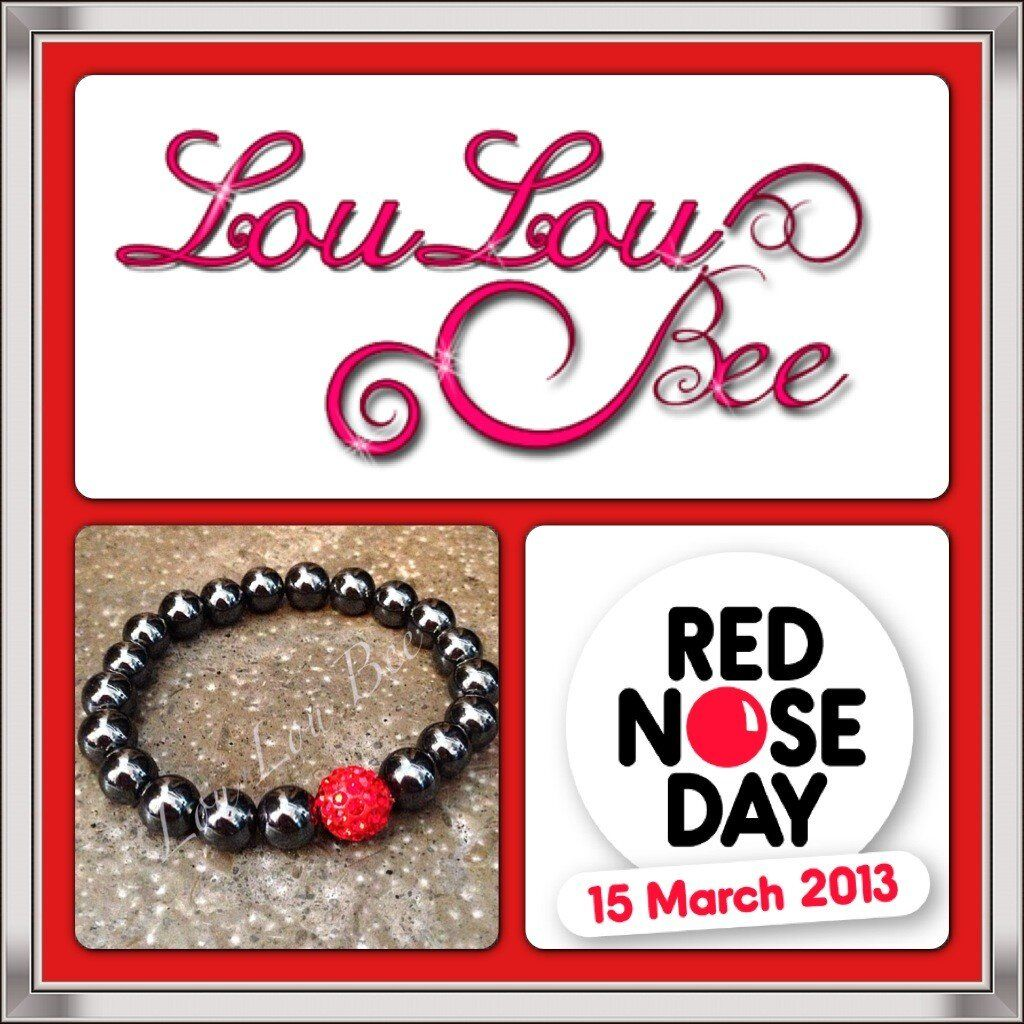 Lou lou bee on red nose