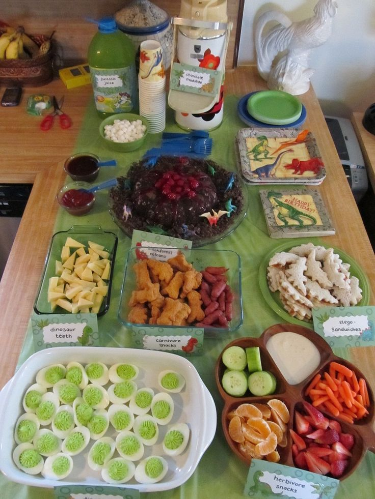 Dinosaur Snacks For Birthday Party