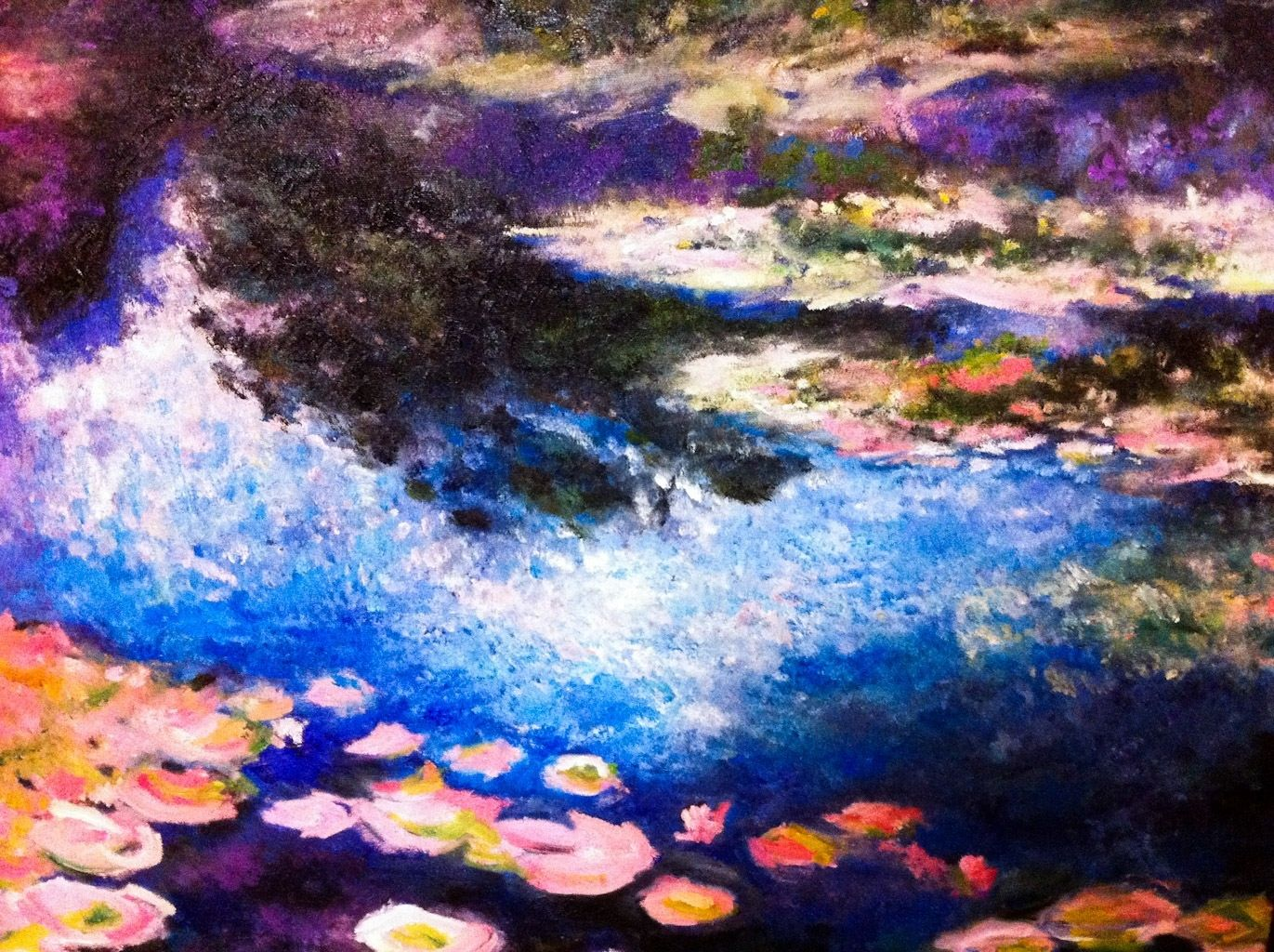 Pour Monet, oil painting / EY Choi