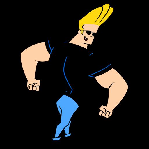 Johnny Bravo Showing Back Muscles Johnny Bravo Johnny Bravo Cartoon Johny Bravo