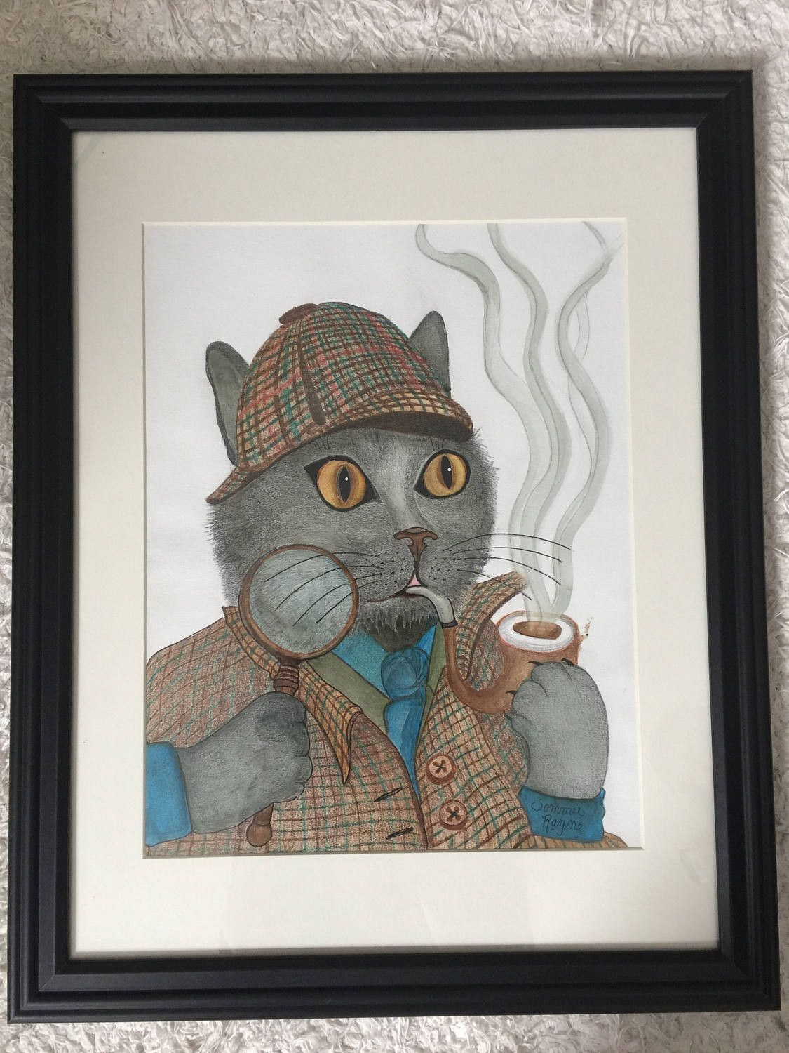 Sherlock Holmes, Detective cat ready to solve the mystery, Original ...