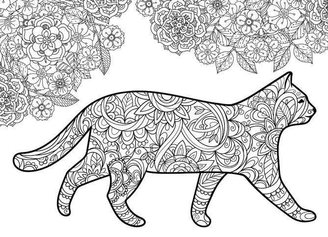 your cat colour therapy 3 cat craft
