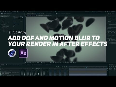 Add Dof And Motion Blur To Your C4d Render With After Effects With Exr Motion Blur Blur After Effects