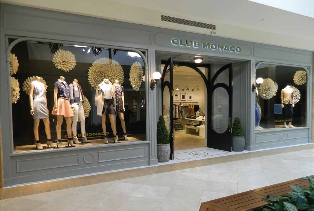 Club Monaco South Coast Plaza Store Reopening Store Design Interior Store Design Shop Interiors