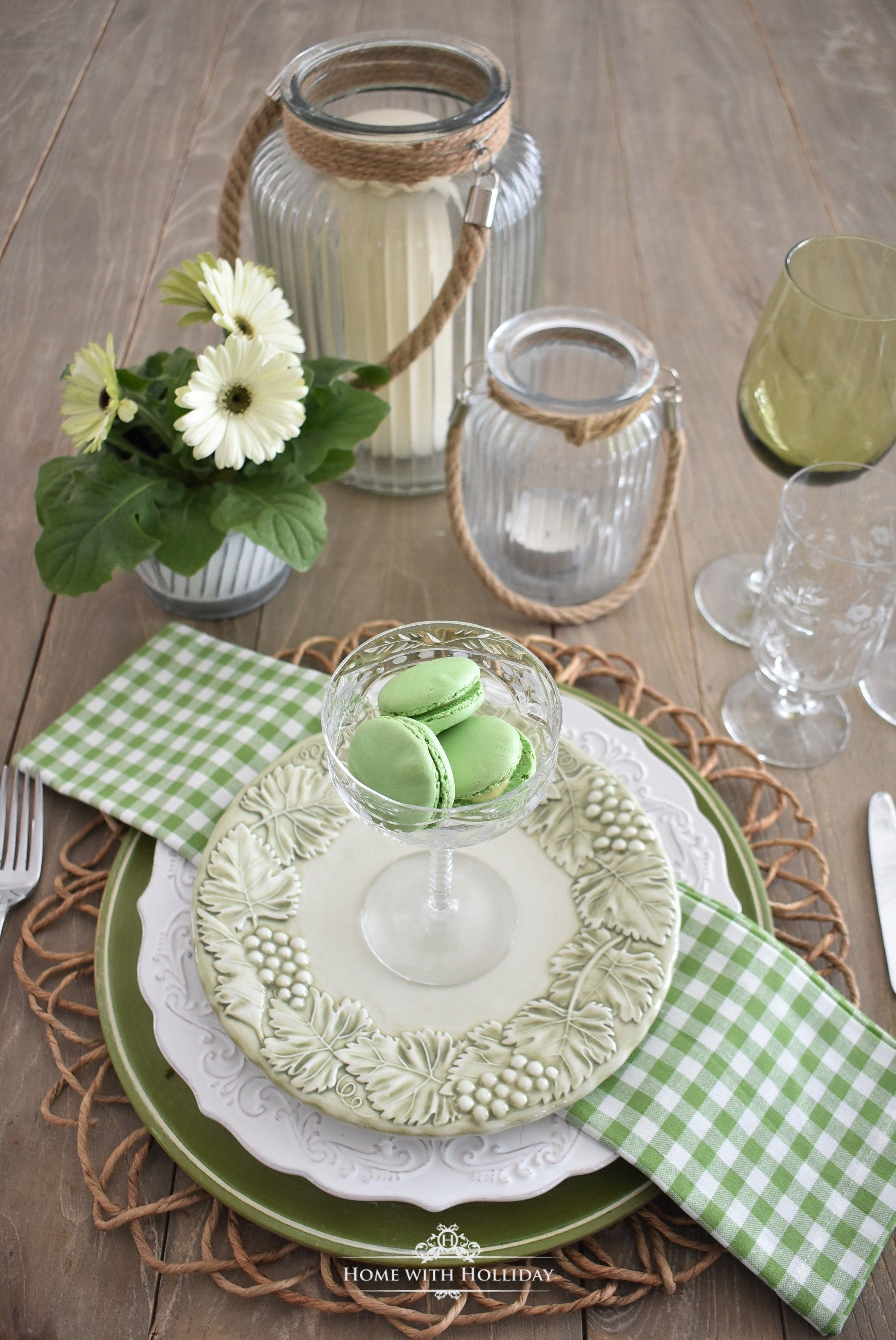 Green Table Setting Ideas Home With Holliday Dinner Table