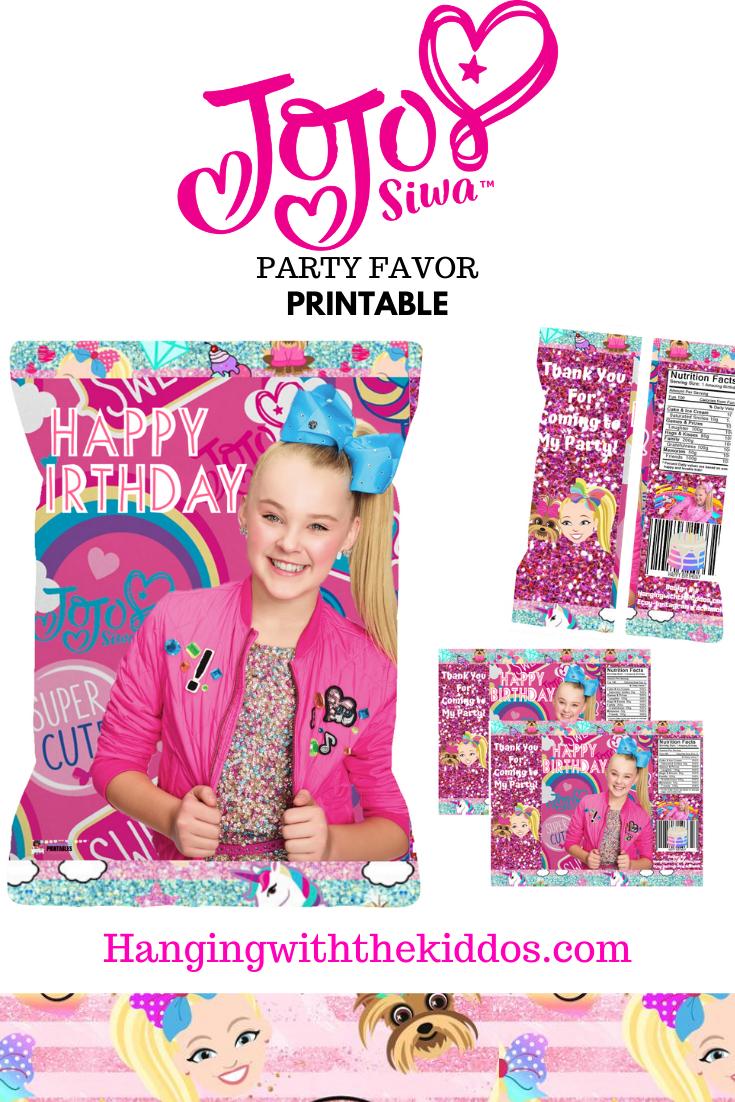 Inspired Jojo party bag printable