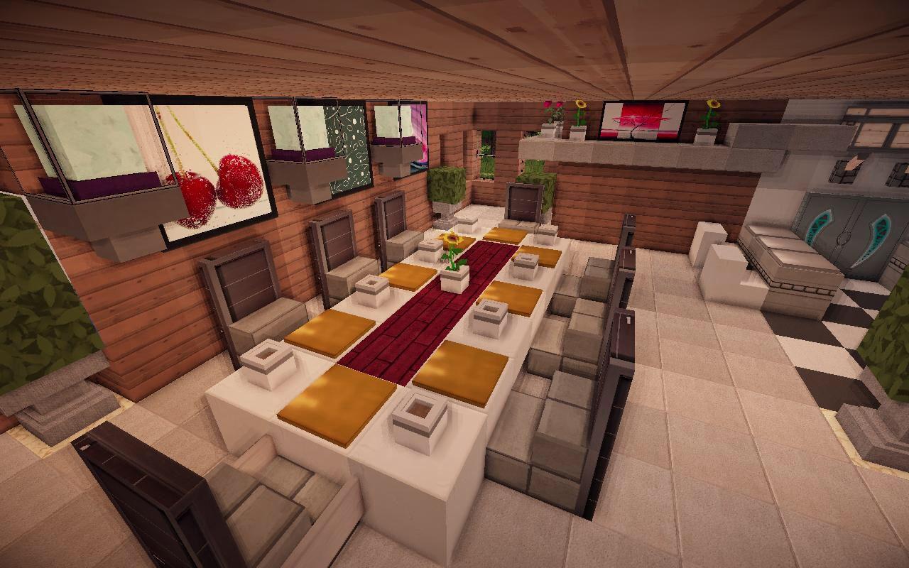 Dinning Room Modern Minecraft Houses Minecraft Modern Minecraft Interior Design