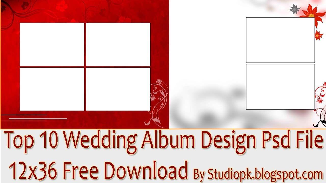 Top 10 Wedding Album Design Psd File 12x36 Free Download Wedding