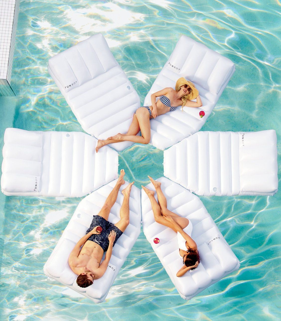 Modular Sun Floating Daybed Frontgate Pool Floats For Adults Pool Floats Cool Pool Floats