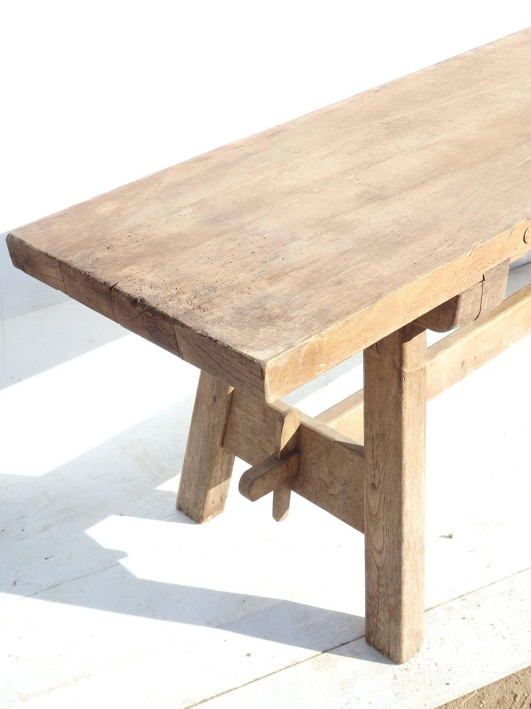 For Sale On   Century Swedish Narrow Trestle Table, Circa