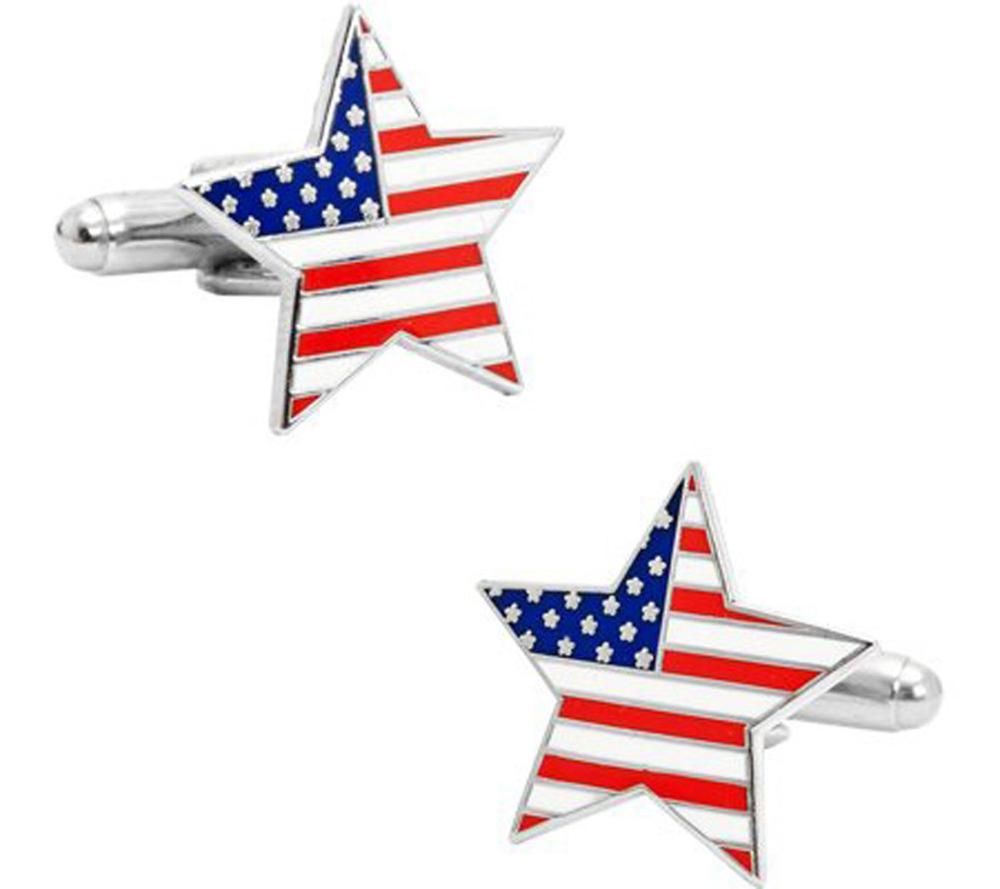 American Flag Star Cufflinks Proud To Be An American Us Flag Etsy American Flag Stars American Flag Cufflinks