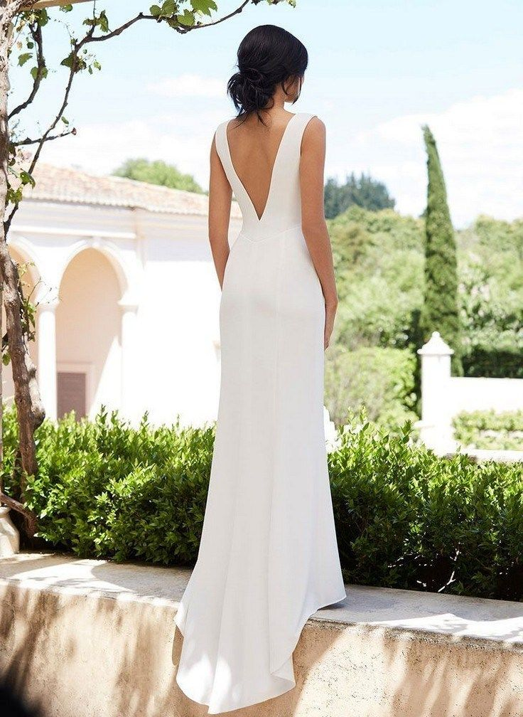 34 Awesome Simple Wedding Dresses For Cute Brides » wartamusik info is part of Minimal wedding dress -