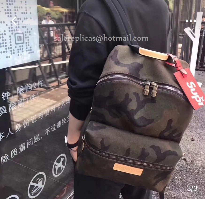 11cc646b6aa0 Louis Vuitton Supreme Camo Apollo Backpack M44200-23
