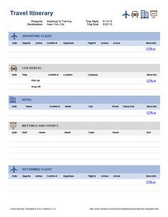 Travel Agent Itinerary Template from i.pinimg.com