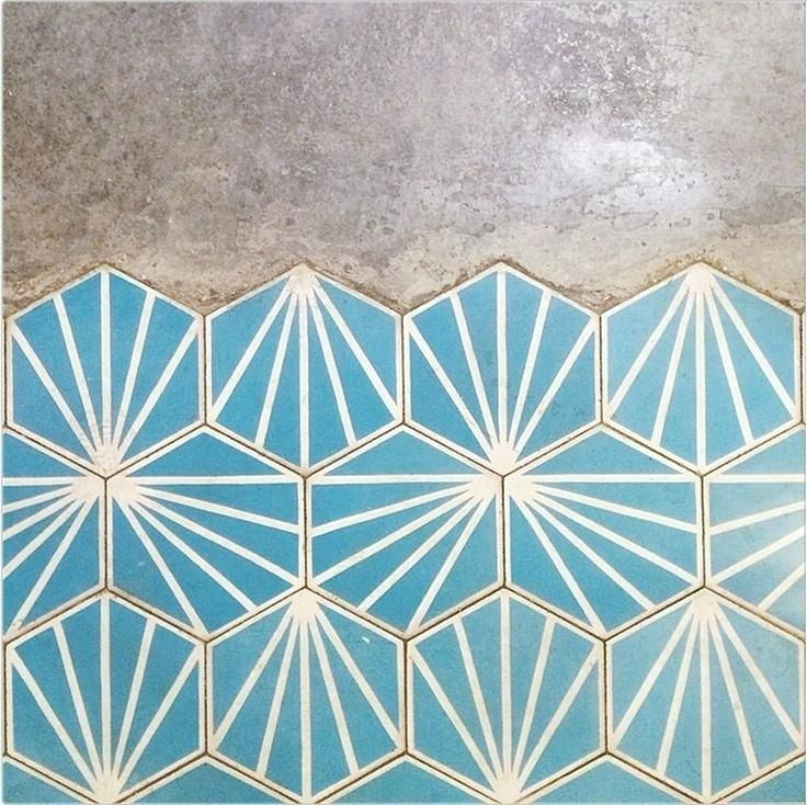 Geometric Floor Tiles Best Ideas On Modern Kitchen Blue