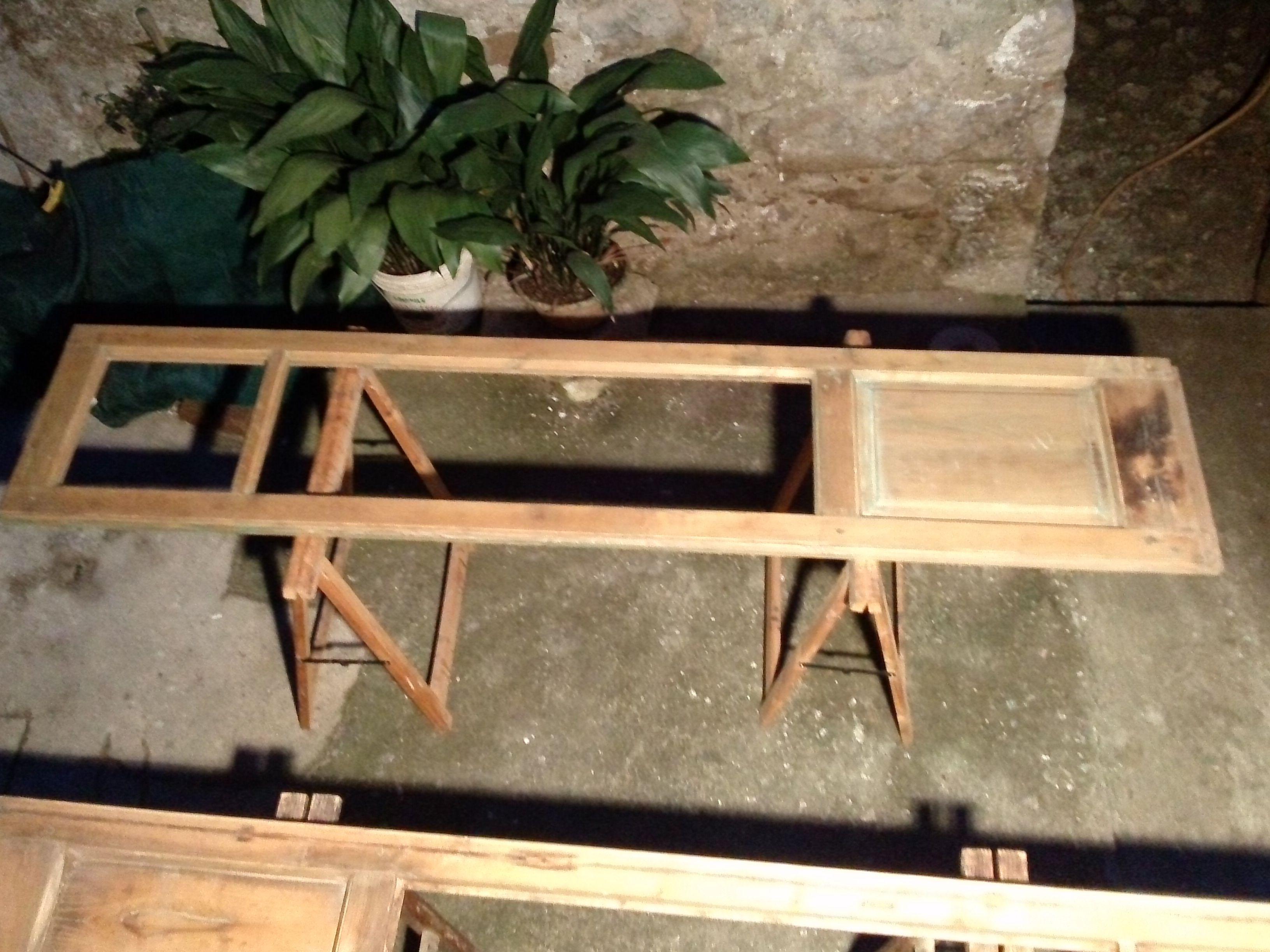 Ristrutturazione di una serie di infissi in legno di castagno how made restoration furniture - Ristrutturazione mobili legno ...