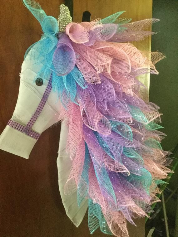 Unicorn Wreath Products Wreath Crafts Deco Wreaths