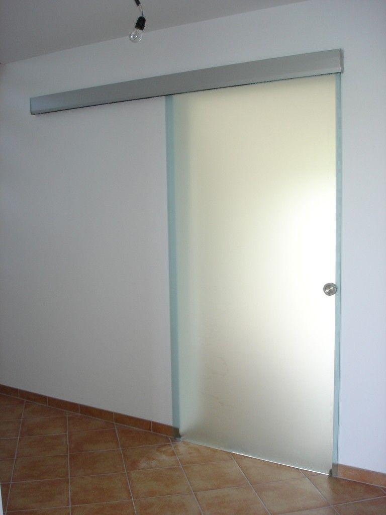 Hardglazen schuifdeur voor binnen | Sliding door, Doors and Walking ...