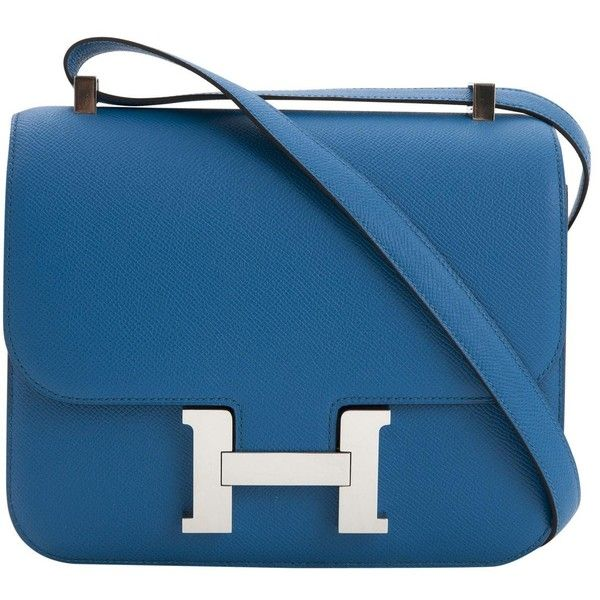 Hermes Sac Hermès Crossbody - Cuir Bleu Prix Pas Cher Bas Frais D'expédition ZfMdPXh