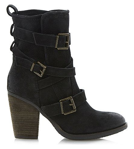 fe46e3fb7df STEVE MADDEN Yale heeled buckle ankle boots | boots | Buckle ankle ...