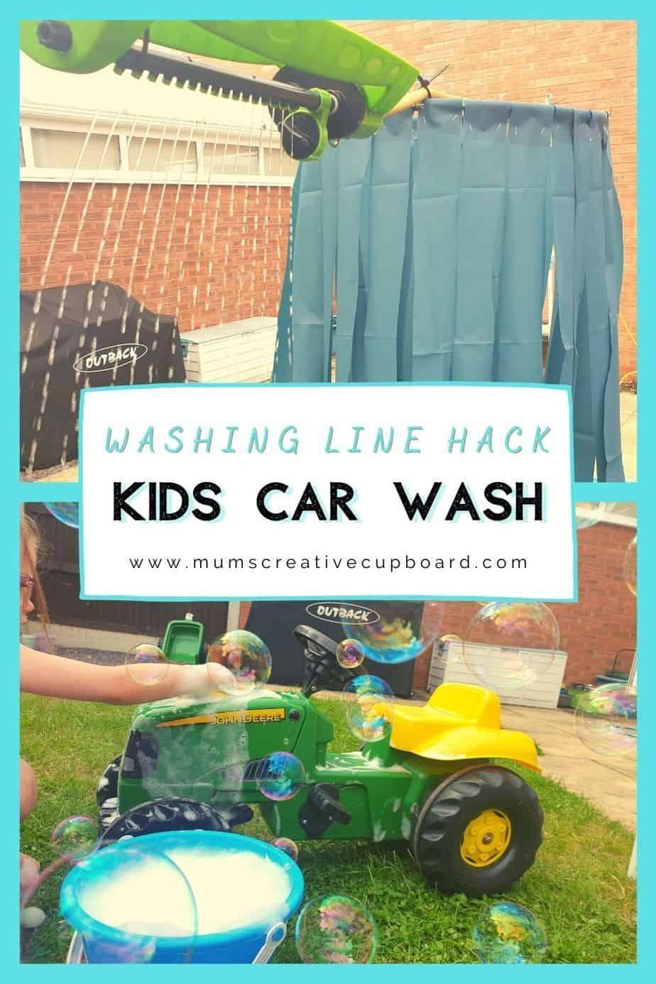 Super Simple Washing Line DIY Car Wash for Kids in 2020