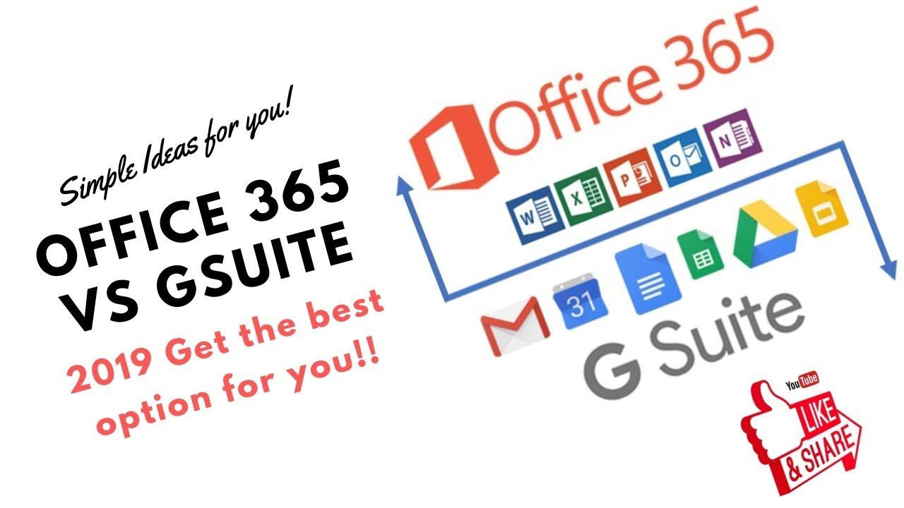 G Suite vs Office 365 COMPARISON Get the best for you