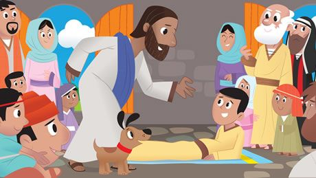 Jesus heals the paralytic. Animated Storybook app from