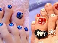 Winter Toe Nail Art Designs Ideas For Girls 2013 2014 Simple