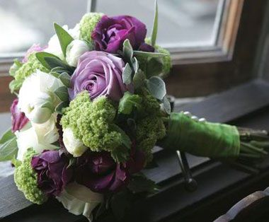 bridal bouquets green and purple - Google Search